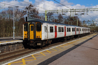 317 667 at Harlow Town on 3rd March 2015 working 2H32 (1)
