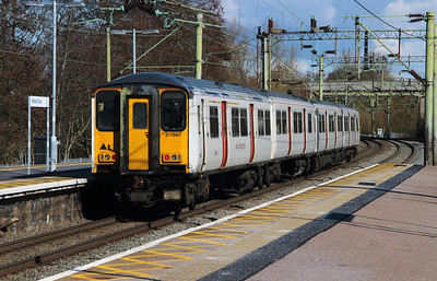 317 667 at Harlow Town on 3rd March 2015 working 2H32 (3)