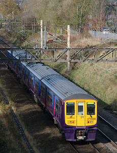 319 380 at (Halton Junction) Runcorn on 2nd November 2014 working 5Z20 (1)