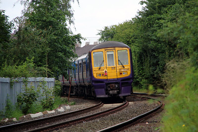 319 361 at Penketh old station on 20th June 2014 working 5X19 (8)