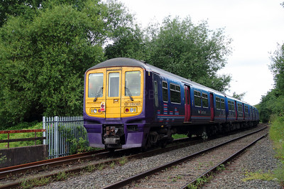 319 361 at Penketh old station on 20th June 2014 working 5X19 (2)