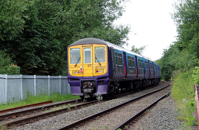 319 361 at Penketh old station on 20th June 2014 working 5X19 (5)