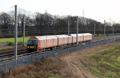1) 325 007 at Winwick Junction on 19th December 2013 working 1S10 1000 Crewe IEMD to Carlisle