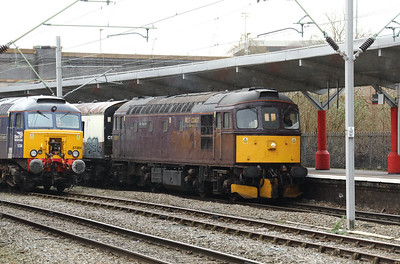 33 207 at Crewe on 8th February 2019