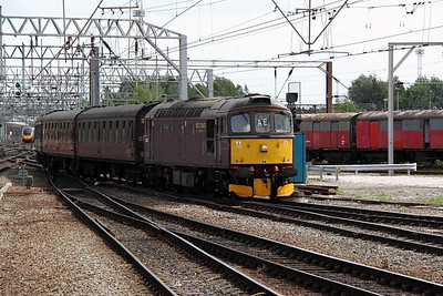 1) 33 207 at Crewe on 18th May 2011 working 5Z33 0950 Southall to Carnforth