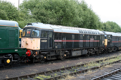 2) 33 021 at Barrow Hill Museum on 30th June 2007