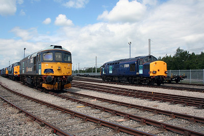 33 025 & 37 059 at Carlisle Kingmoor DRS Depot on 11th June 2005