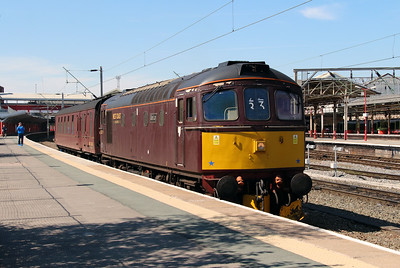 3) 33 029 at Crewe on 31st May 2013 working 5Z42 1123 Carnforth Steamtown to Southall