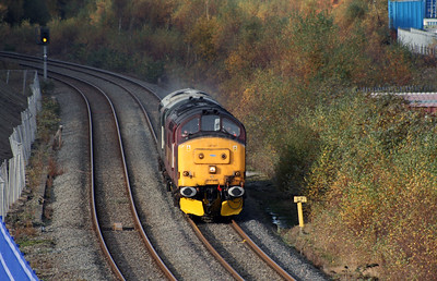 37 410 at West Deviation Jn (Widnes) on 2nd November 2007 (1)