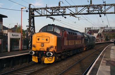 37 410 at Runcorn on 2nd November 2007 (4)