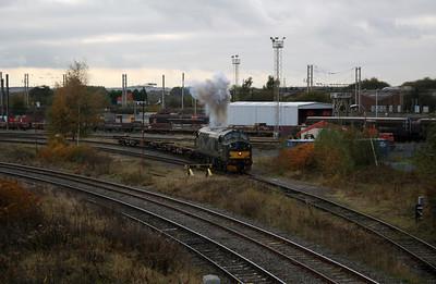 37 411 at Warrington Arpley on 2nd November 2007 (7)