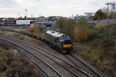 37 411 at Warrington Arpley on 2nd November 2007 (8)