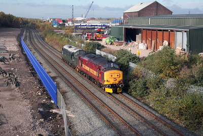 37 410 at West Deviation Jn (Widnes) on 2nd November 2007 (4)