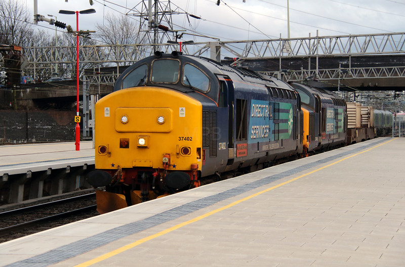 37 402 & 37 409 at Stafford on 5th March 2014