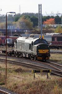 37 411 at Warrington Arpley on 2nd November 2007 (3)