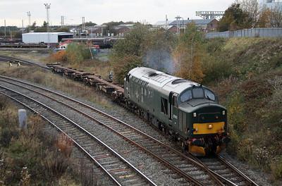 37 411 at Warrington Arpley on 2nd November 2007 (9)