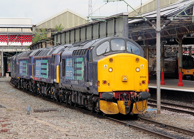 2) 37 510 at Crewe on 9th June 2011 working 0Z41 1030 Barrow Hill to Crewe Gresty Bridge.