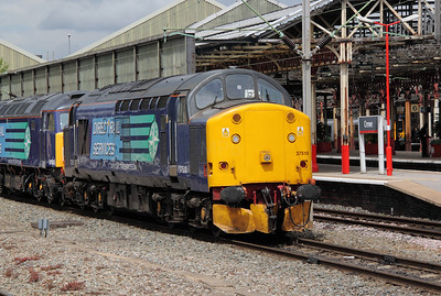 1) 37 510 at Crewe on 9th June 2011 working 0Z41 1030 Barrow Hill to Crewe Gresty Bridge.