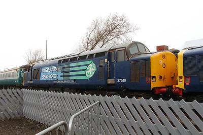 37 510 at Barrow Hill on 16th November 2014