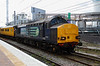 2) 37 611 at Warrington Bank Quay on 30th April 2013 working 1Z14 1139 Crewe CS to Wigan North Western