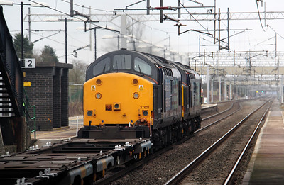 37 601 at Acton Bridge on 24th March 2010
