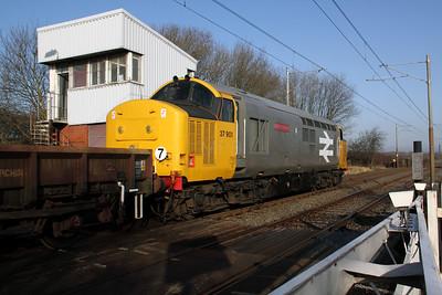 37 901 at Hagside LC (Metrolink) on 6th February 2010  (2)