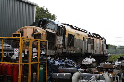 37 010 at Barrow Hill Museum on 30th June 2007