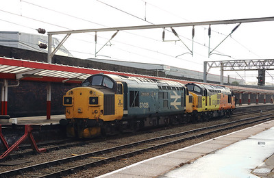 2) 37 025 at Crewe on 6th October 2020