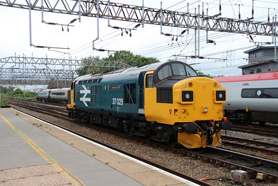 3) 37 025 at Crewe on 7th July 2016