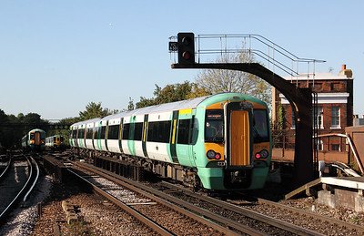377 208 at Balham on 20th October 2010