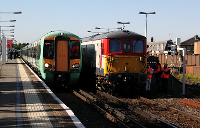 377 142 & 73 202 at Balham on 20th October 2010