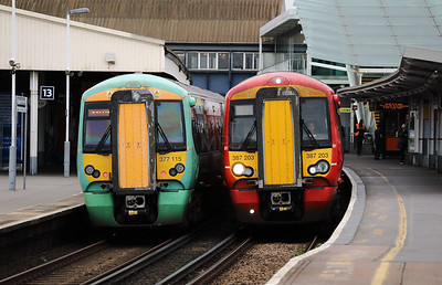 377115 & 387203 at Clapham Junction on 29th March 2017