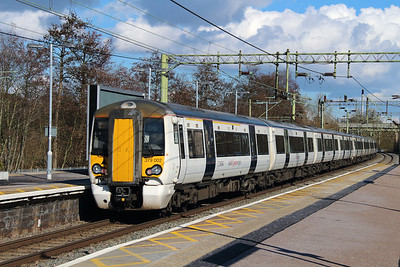 379 002 at Harlow Town on 3rd March 2015 working 1B72 (1)