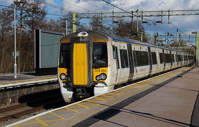 379 004 at Harlow Town on 3rd March 2015 working 2H35 (2)