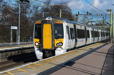 379 015 at Harlow Town on 3rd March 2015 working 1B67 (3)