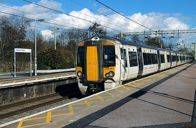 379 017 at Harlow Town on 3rd March 2015 working 1B65