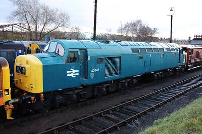 40 145 at Barrow Hill on 9th December 2018
