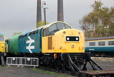 40 145 at Barrow Hill on 30th October 2011