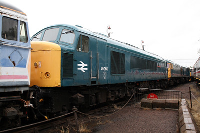 45 060 at Barrow Hill Museum on 30th June 2007
