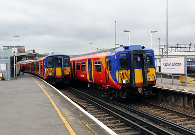 455734 & 455853 at Clapham Junction on 29th March 2017