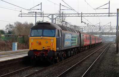 1) 47 501 at Acton Bridge on 16th January 2013 working 5Z46