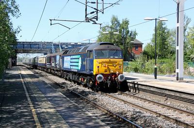 47 501 at Acton Bridge on 2nd May 2011 working 5Z49 0904 Carlisle Kingmoor DRS Depot to Crewe DHS