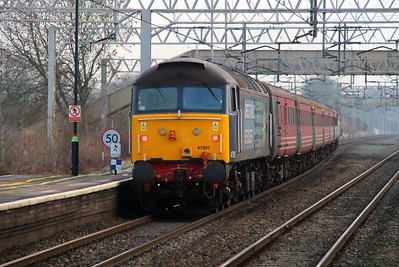 2) 47 501 at Acton Bridge on 16th January 2013 working 5Z46