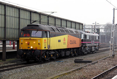 2) 47 727 at Crewe on 17th February 2011 working 0Z86 0830 Crewe CS to Long Marston