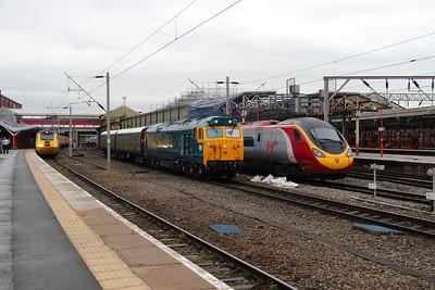 43 062, 50 007 & 390 016 at Crewe on 28th May 2014