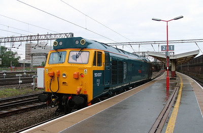 50 007 at Crewe on 28th May 2014 working 0Z47 (8)