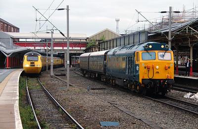43 062 & 50 007 at Crewe on 28th May 2014 (3)