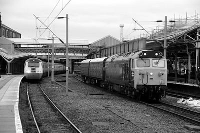 43 062 & 50 007 at Crewe on 28th May 2014 (1)