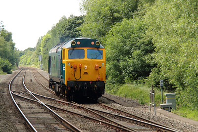 2) 50 007 at Coleshill Parkway on 23rd June 2015