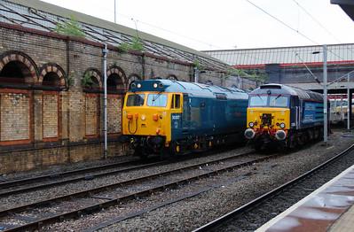 50 007 & 57 308 at Crewe on 28th May 2014 (1)